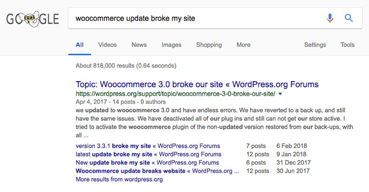 WooCommerce broke site