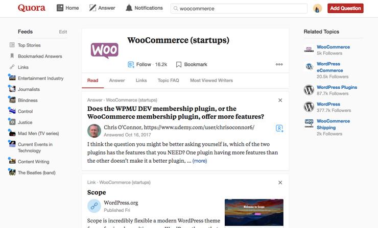 Quora for WooCommerce