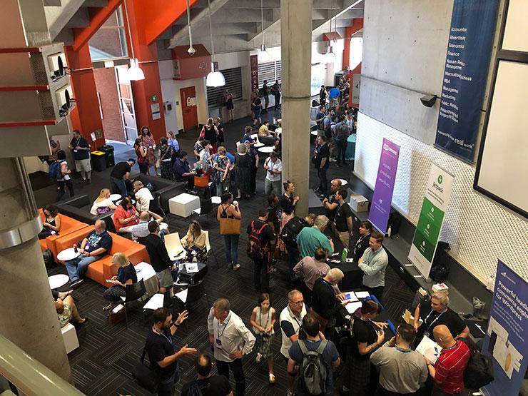 The crowd at WordCamp Brisbane.